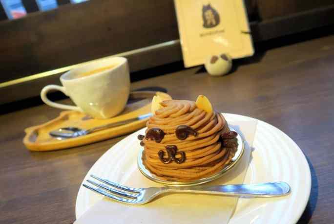 Cat Monc-Blanc chestnut cake Yanka Tokyo Japan