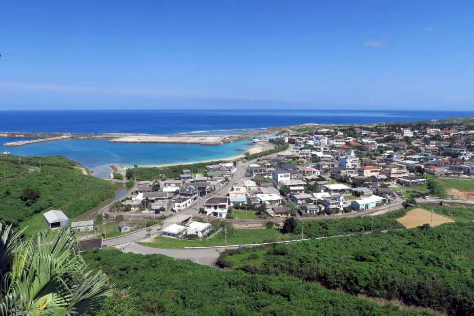 Sonai village view from Tindabanna Yonaguni Okinawa Japan