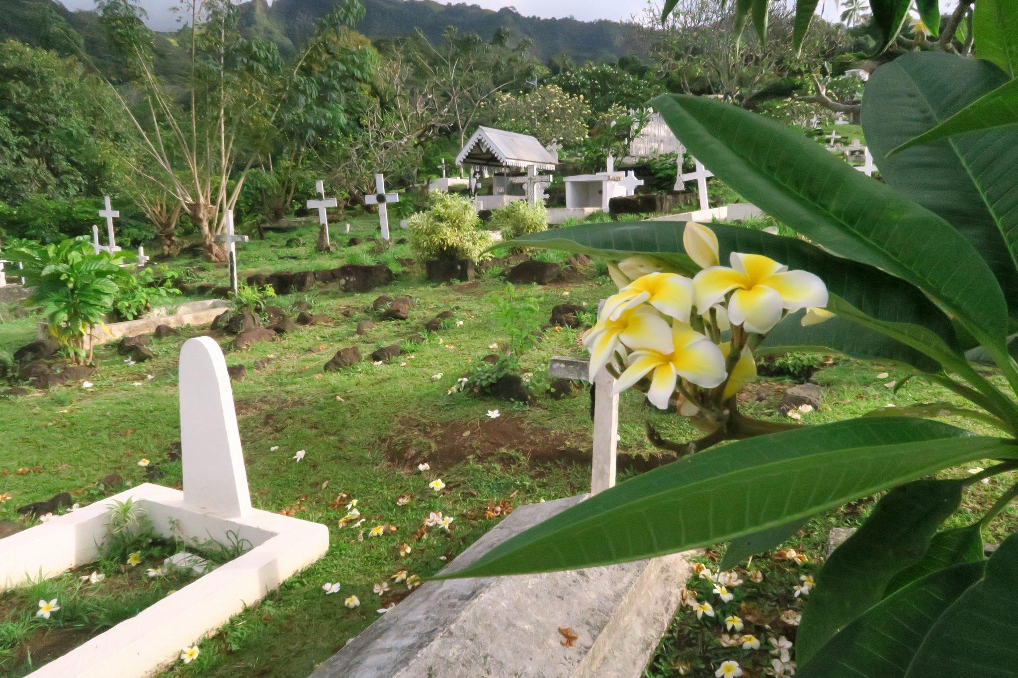 Cemetary Atuona village Hiva Oa Marquesas Islands French Polynesia