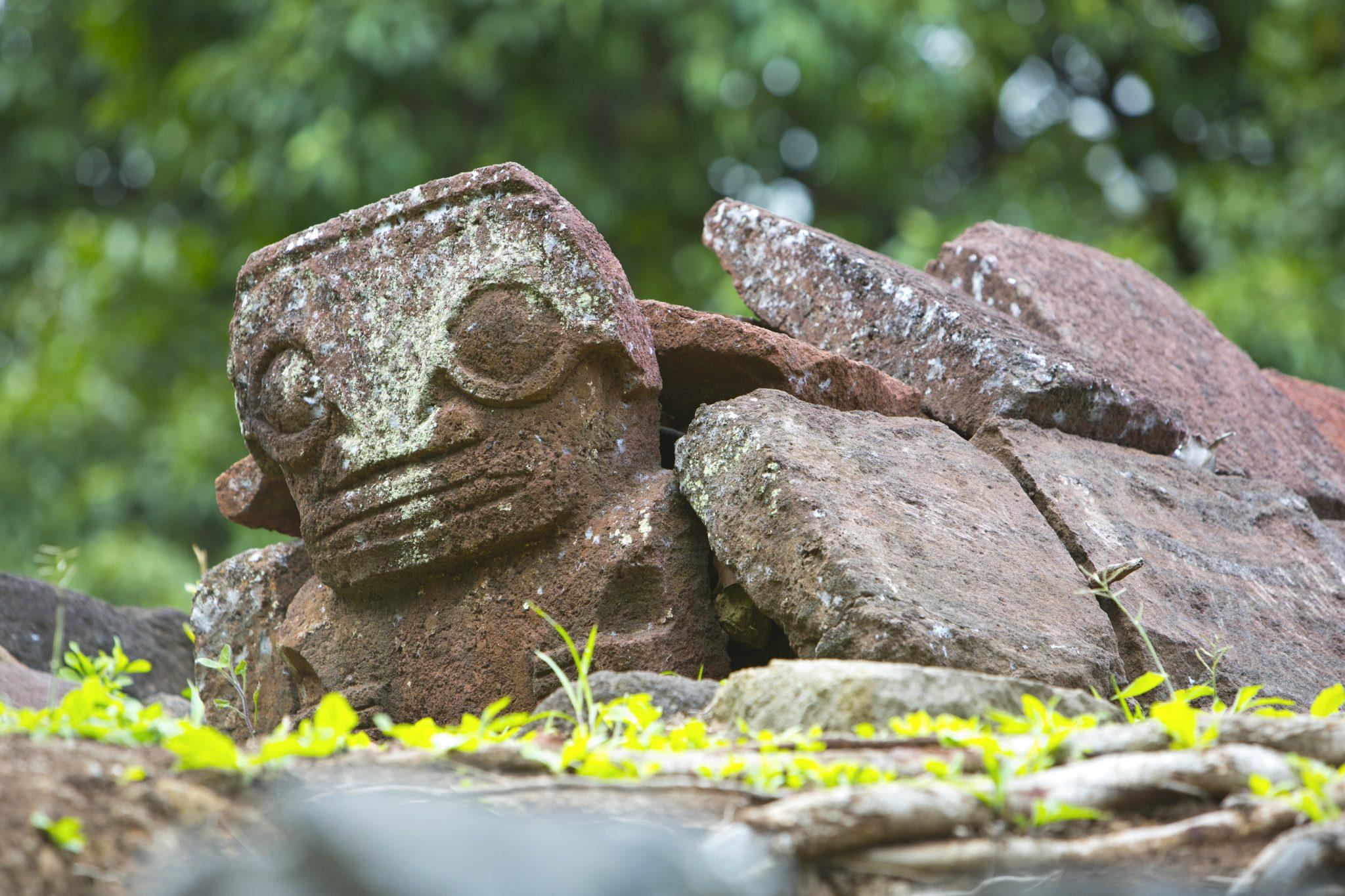 Archeological site Hiva Oa Marquesas Islands
