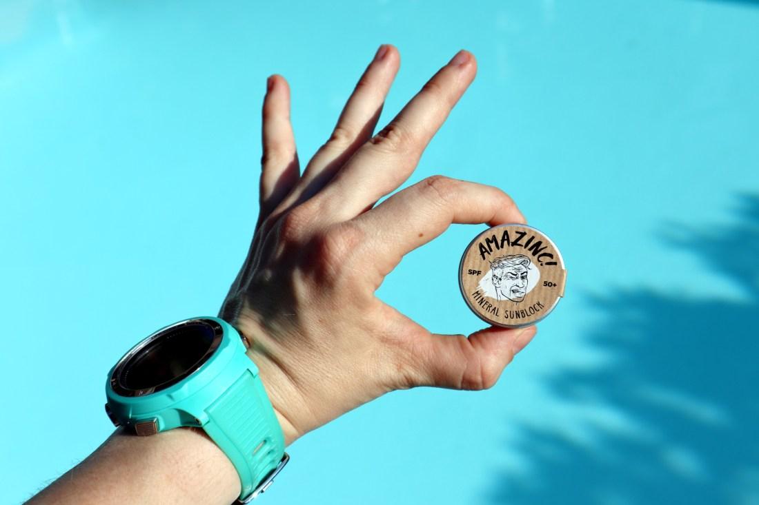 Plastic free sunscreen Amazinc