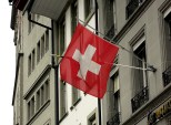 Swiss flag in Bern