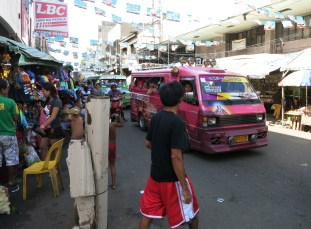 Carbon market area Jeepney Cebu City Philippines