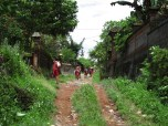 School kids north of Ubud Bali Indonesia