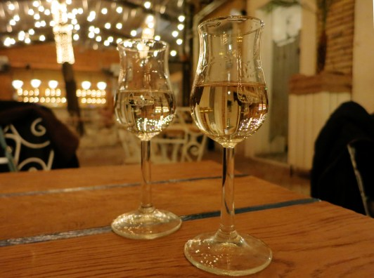 Palinka glass Mazel Tov Ruin Pub Budapest Hungary