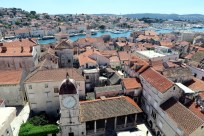 View from St Lawrence Cathedral Trogir Croatia