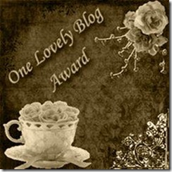 I Received the One Lovely Blog Award (3/6)