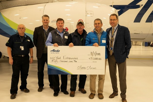 Alaska Airlines Opens A New Hangar At Anchorage World