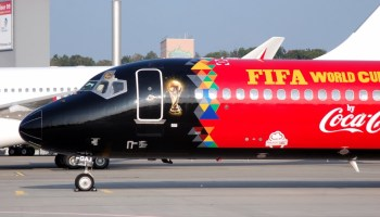 2018 FIFA World Cup Trophy Tour by Coca-Cola takes off from