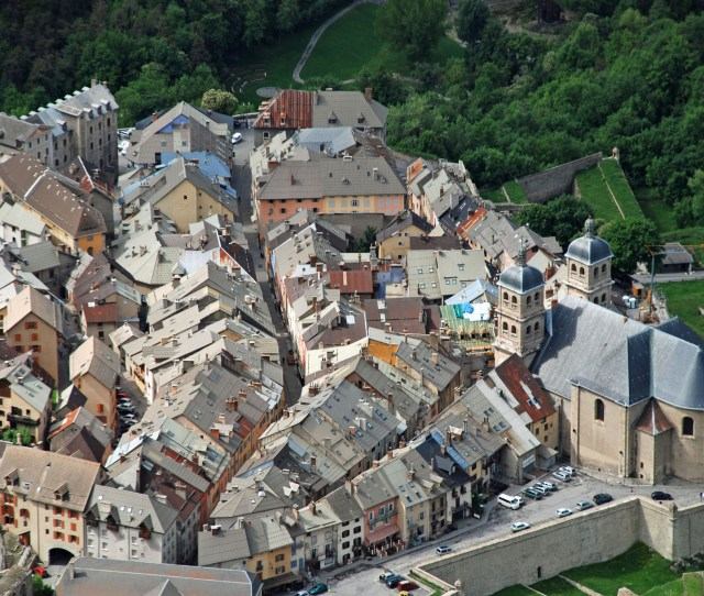 Briancon France Aerial View