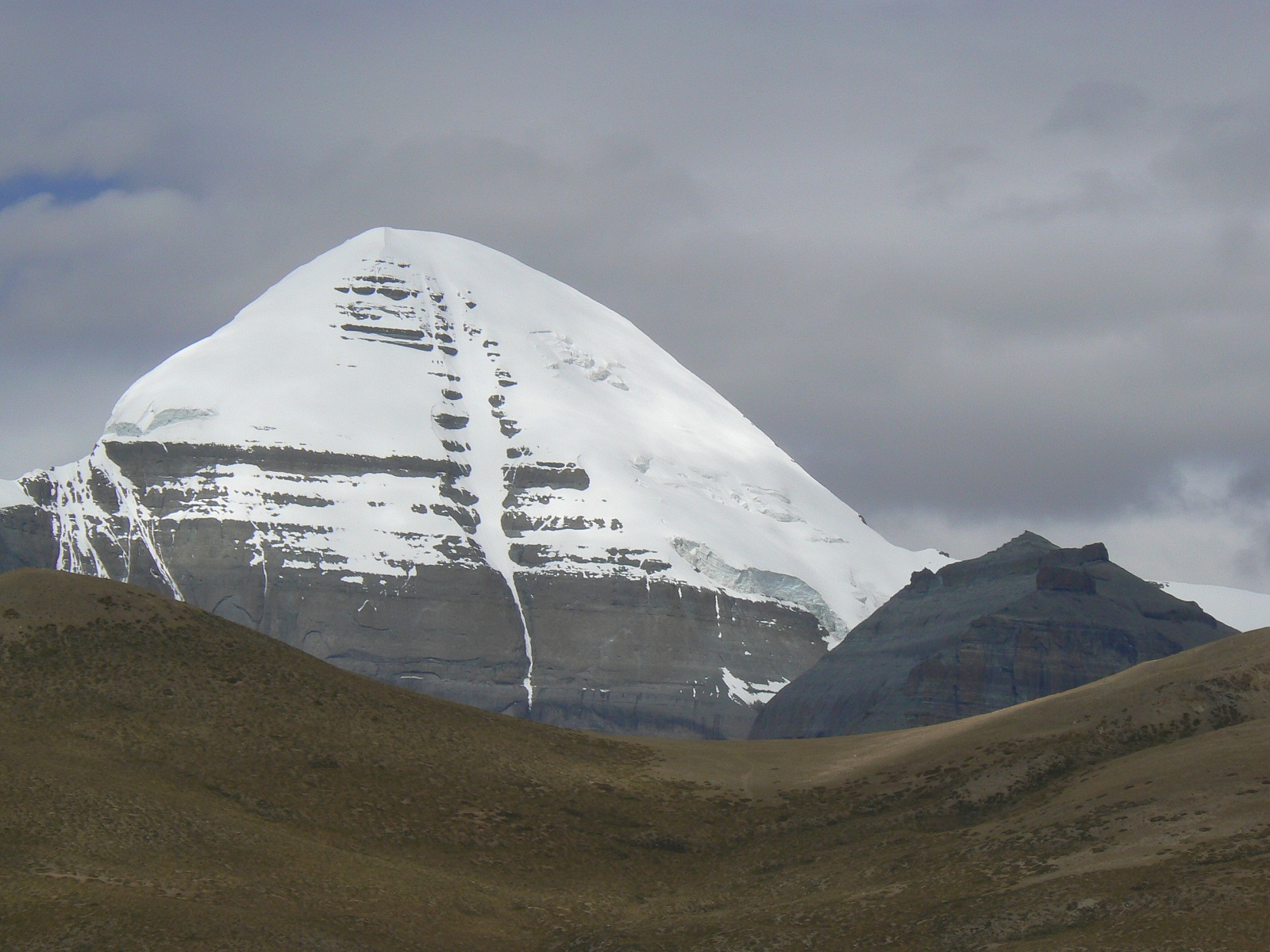 Mount Kailash Tibet Snow Covering The Summit  96 World