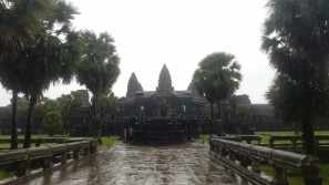 Caught in a downpour, but Angkor Wat is beautiful even in the rain