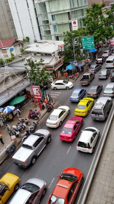 Pretty much bumper to bumper most of the time, at least in the busier parts of the city. Take the trains instead!