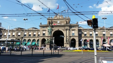This impressive train station is the main rail station for traveling into and out of Zurich