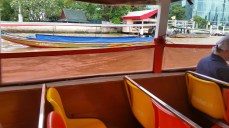 A long-tailed boat from inside the river taxi