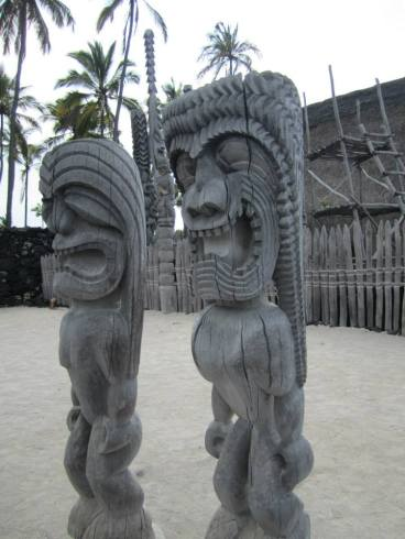 Pu'uhonua o Honaunau or the Place of Refuge is a historical park near Honaunau Bay