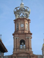 The bell tower of the Church of the Lady of Guadalupe.