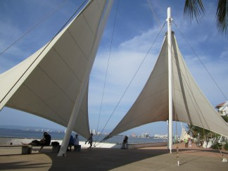 These sails along the Malecon are a popular hangout and a good spot to take a break from the sun.