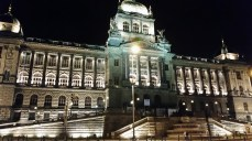 The Czech National Museum and its lovely architecture at Wenceslas Square.