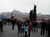 Charles Bridge and its statues. Yes, it's that crowded.