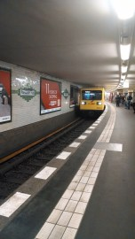 The U-Bahn arriving into Postdamerplatz station.
