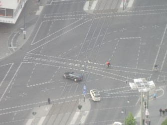 Doesn't this intersection look intense? Seen from the Berlin TV Tower.