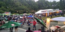 View from the Fisher Pavilion. Grande Beer Garden, tables, and more tickets.