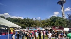 Sunday at Beerfest: less crowds, shorter lines, sunnier day, but beers starting to run out.
