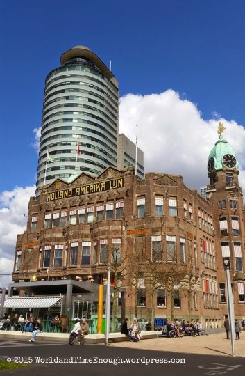 Once the Holland America main office, now the Hotel New York, and a landmark of Rotterdam.