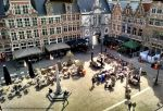 View of the old fish market from Gravensteen.