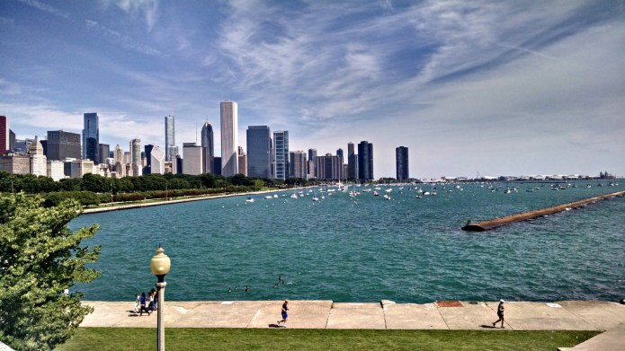 The Lakefront Trail, seen from the Shedd Aquarium.