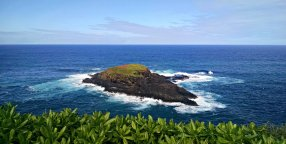 A small island to the north of the Kilauea Lighthouse