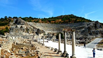 The Great Theater of Ephesus, seen from the Harbor Road