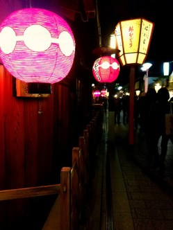 The famous lanterns of Gion.