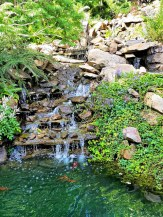 One of the waterfalls at Ohme Gardens.