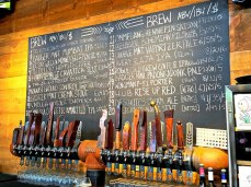 Beer selection at Wenatchee Valley Brewing Co