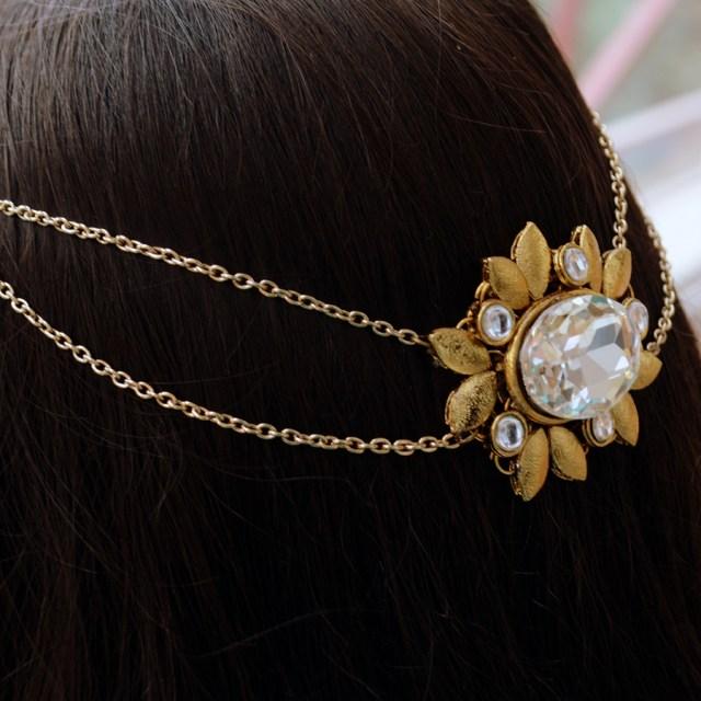 wedding hair accessories/kundan jewelry/bridal hair comb