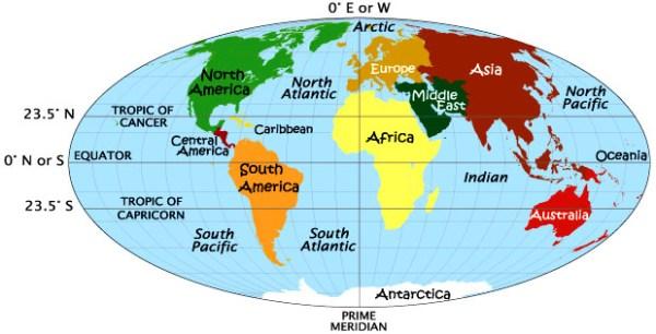 Latitude and Longitude World Map with Latitude and Longitude Worldatlascom