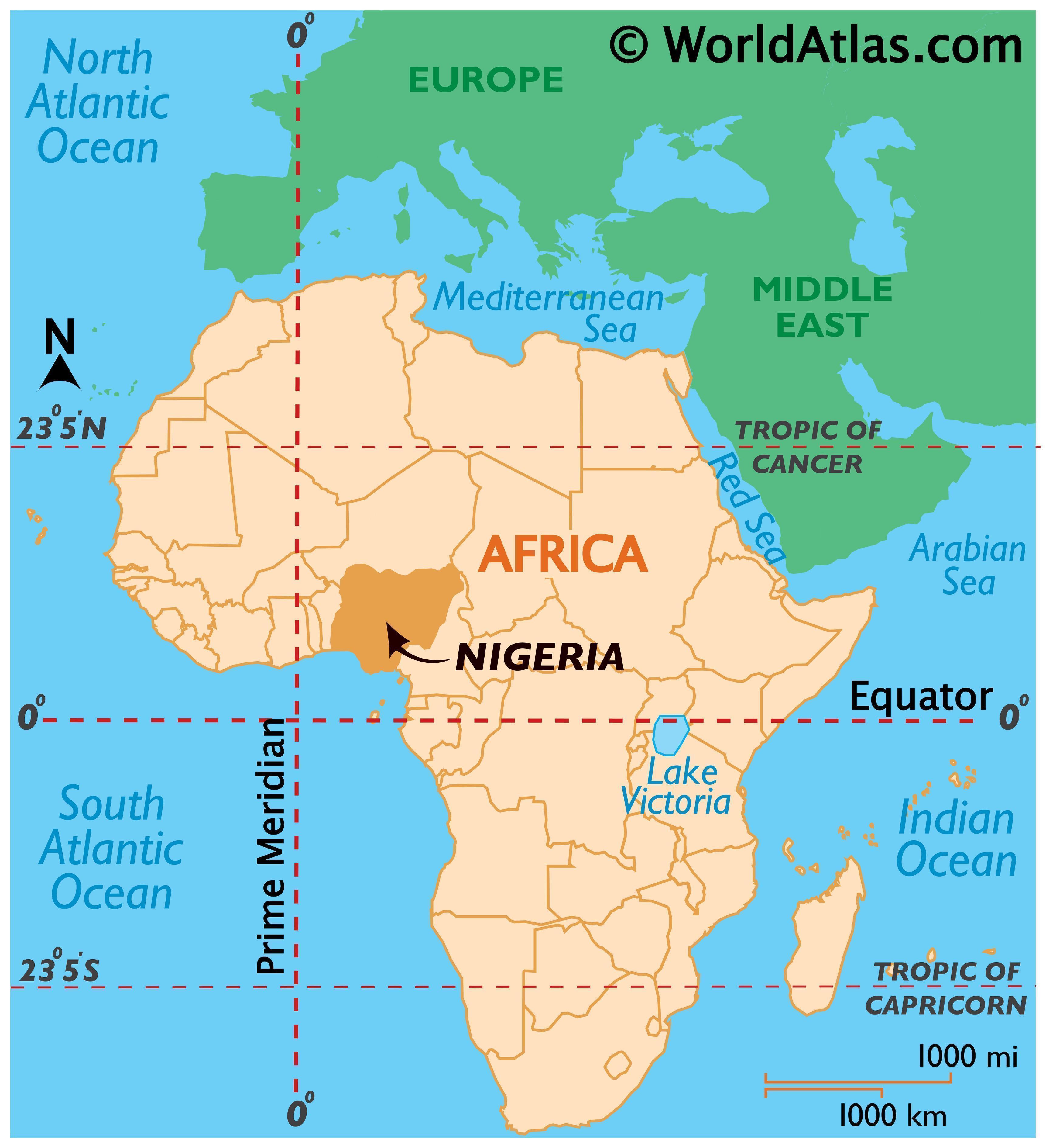 Nigeria Maps & Facts - World Atlas