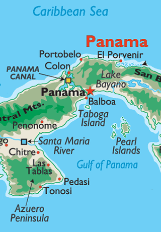 Panama Canal On World Map : panama, canal, world, Panama, Canal, World, Atlas