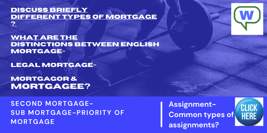 discuss briefly-mortgage.