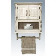 Espresso bathroom wall cabinet, top photo
