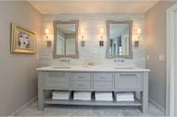 Grey bathroom vanity, 12 photo