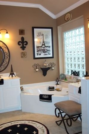 Paris Bathroom Decor, 40 Photo  Bathroom Designs Ideas