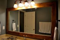 Rustic bathroom mirrors