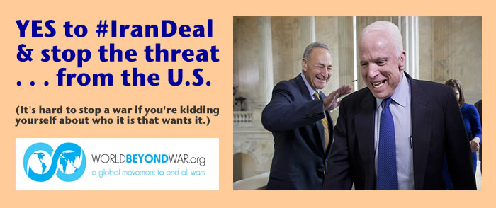 YES To Iran Agreement: Stop The Threat . . . From The U.S