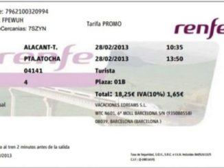 билетите за влак в Исапния