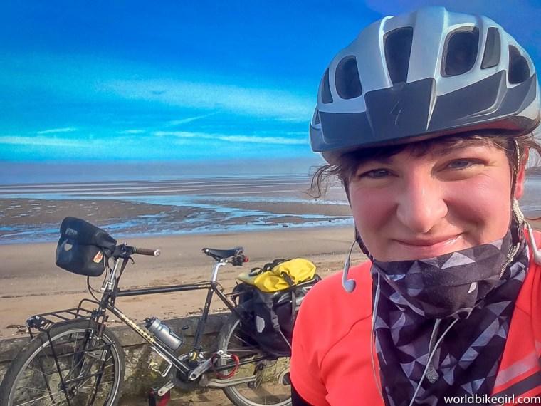 Me wearing helmet & bike