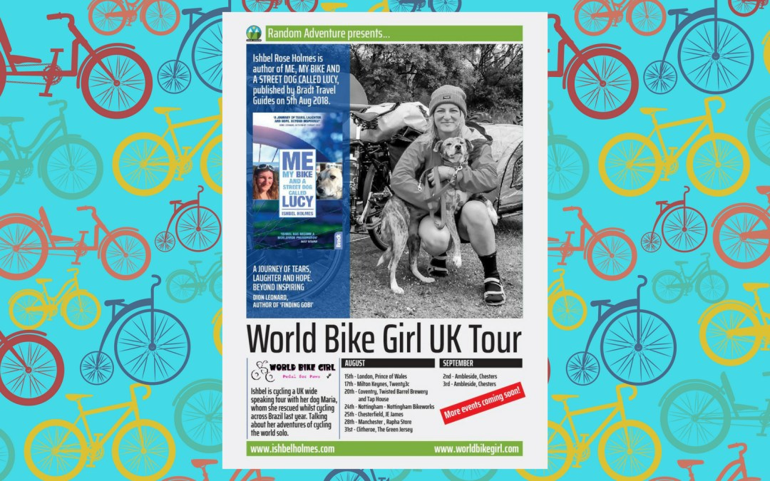 The World Bike Girl Book & Speaking Tour UK 2018