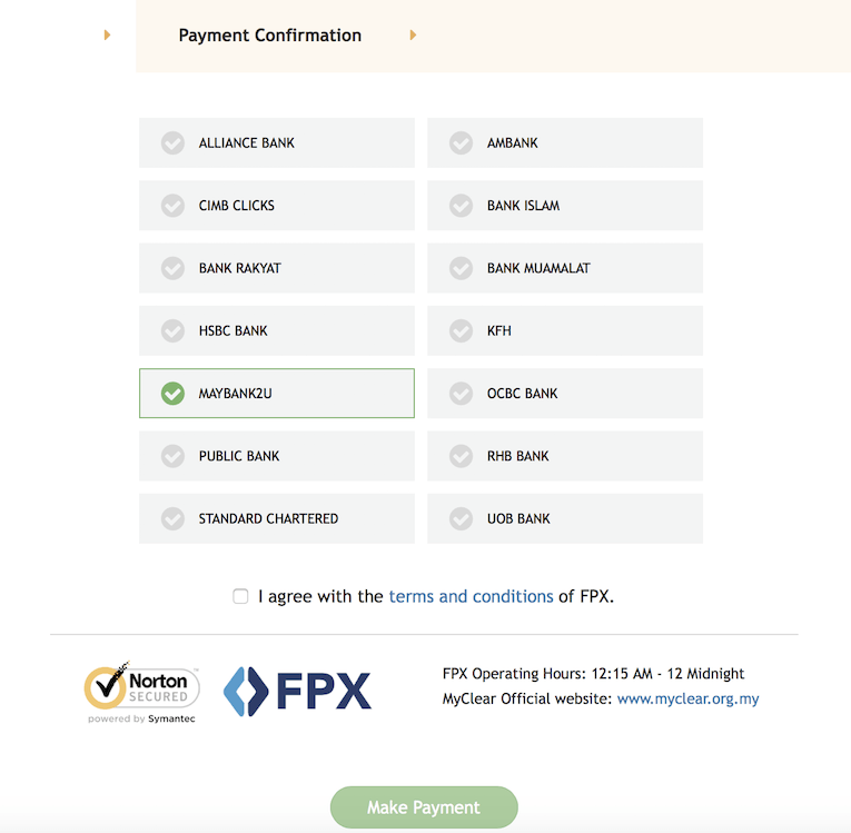 PRS Online Payment page